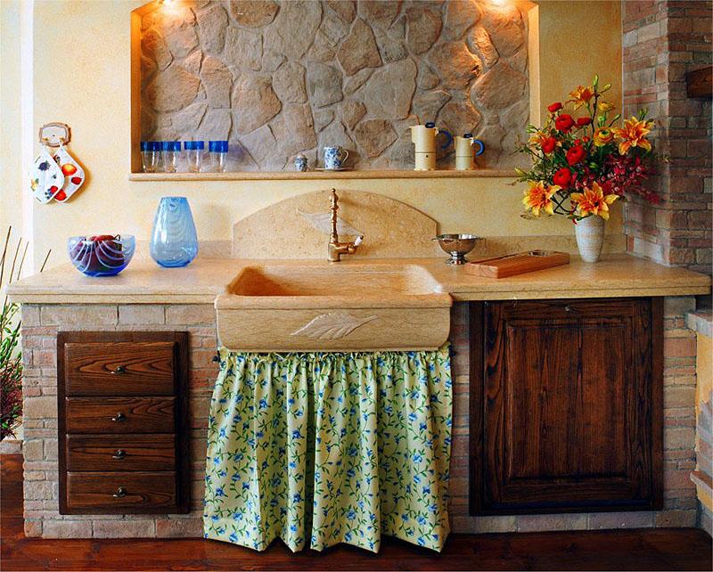 Documento senza titolo - Cucina rustica in pietra ...