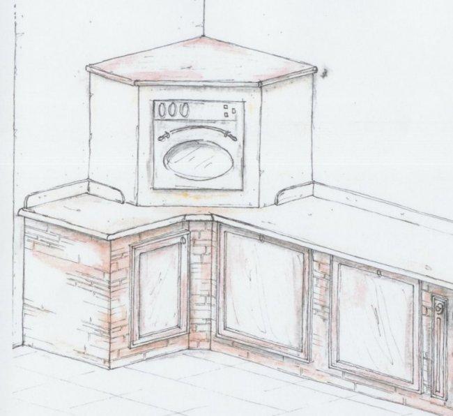 Cucina In Muratura Progetto. Simple Foto Della Cucina In Muratura ...